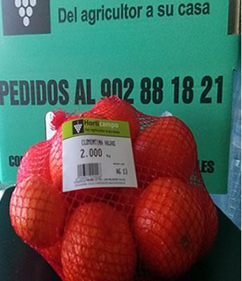 Mandarinas desverdizada (And) en Sevilla