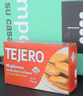 """Mejillones en Escabeche """"Tejero"""" 78 g en Sevilla"""